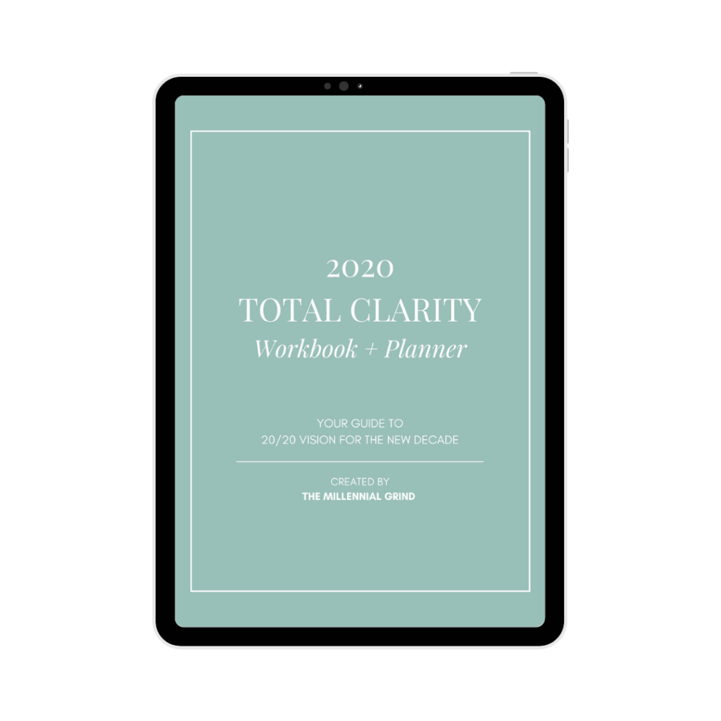 2020 Total Clarity Workbook and Planner by The Millennial Grind
