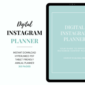 Digital Instagram Planner by The Millennial Grind