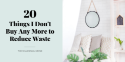 20 Things I Don't Buy Any More to Reduce Waste (+ Free Checklist)
