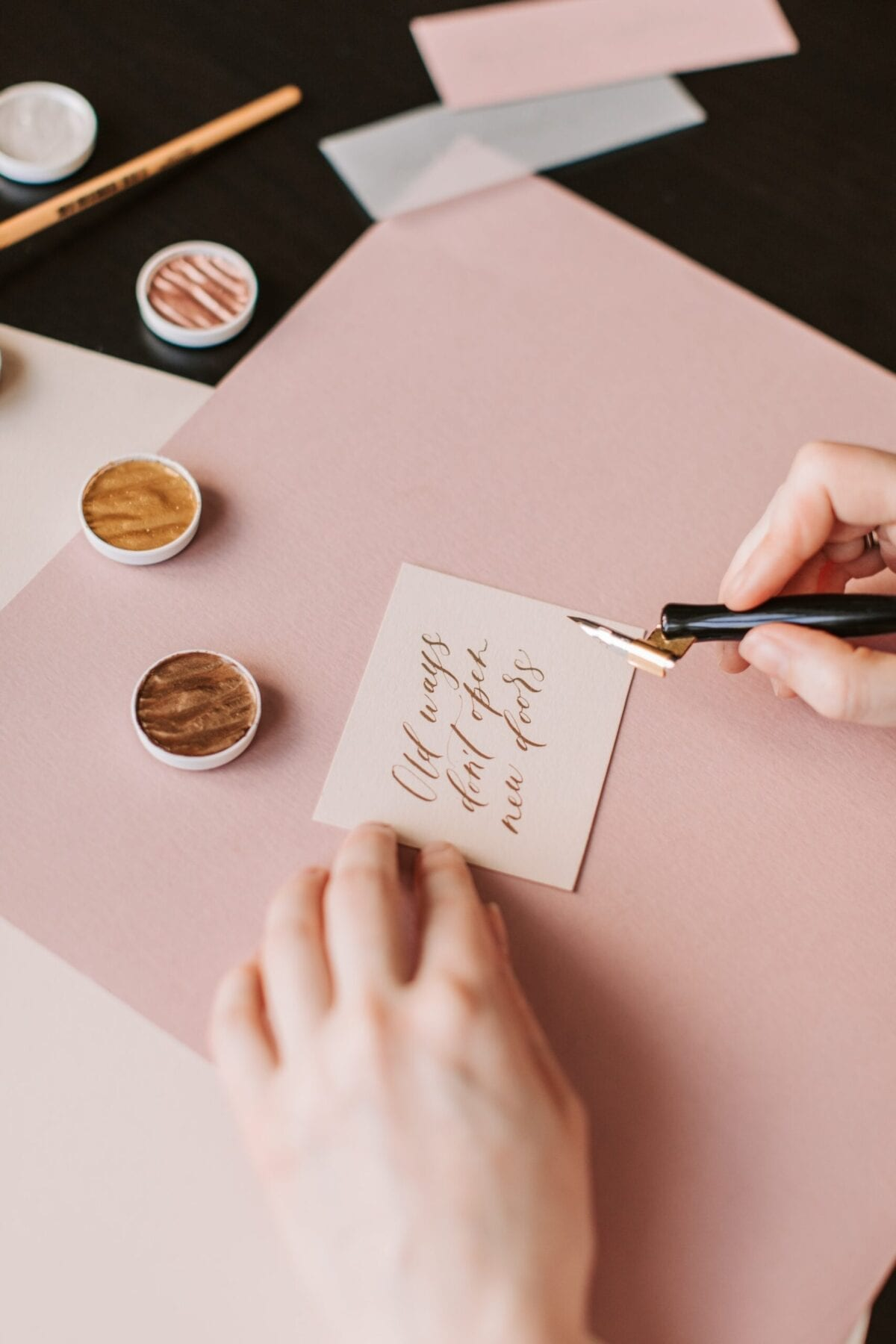 a woman scripting on an intention for manifesting