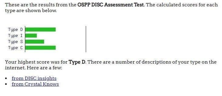 DISC Assessments - Open Psychometrics