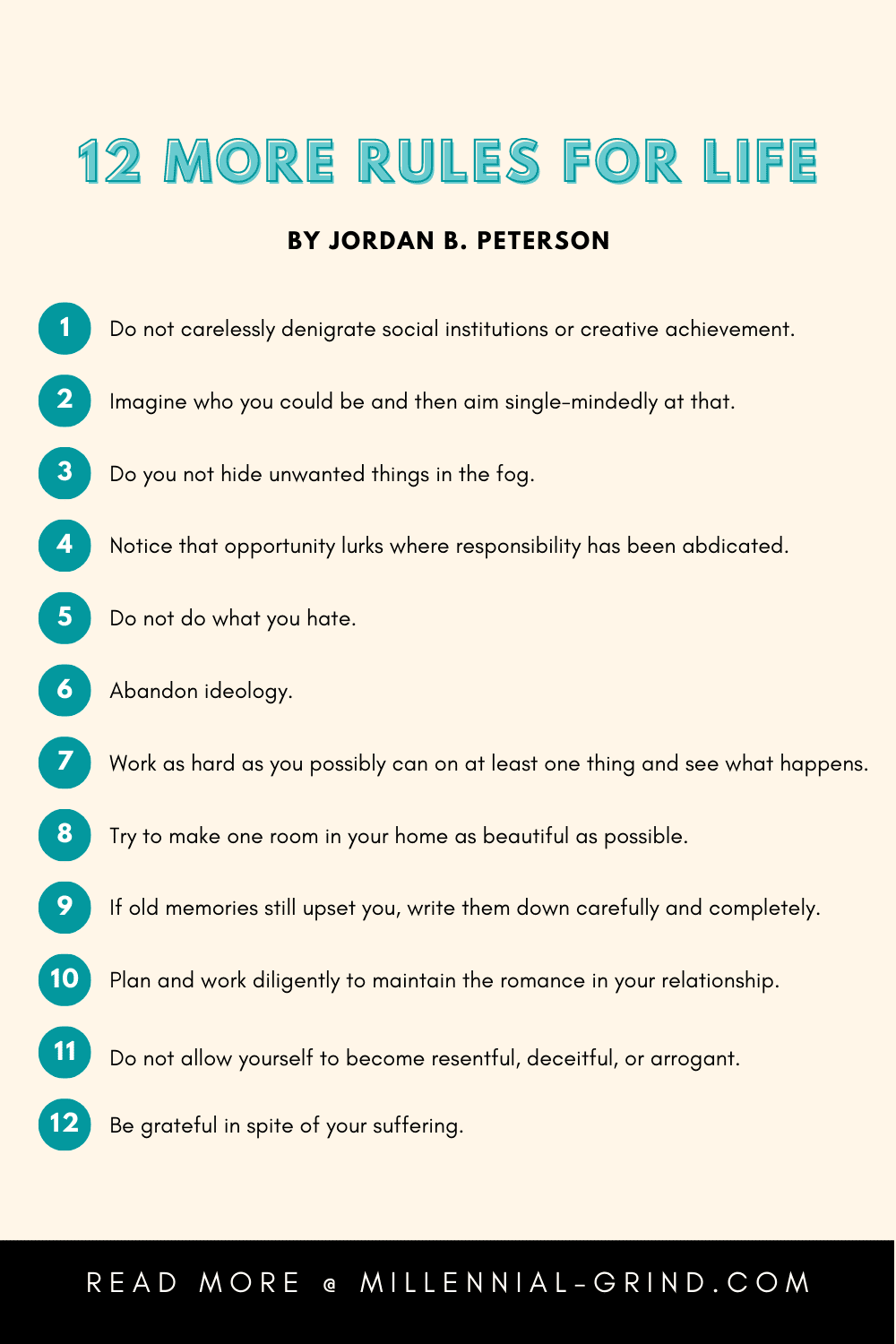 Jordan Peterson's List of 12 More Rules For Life
