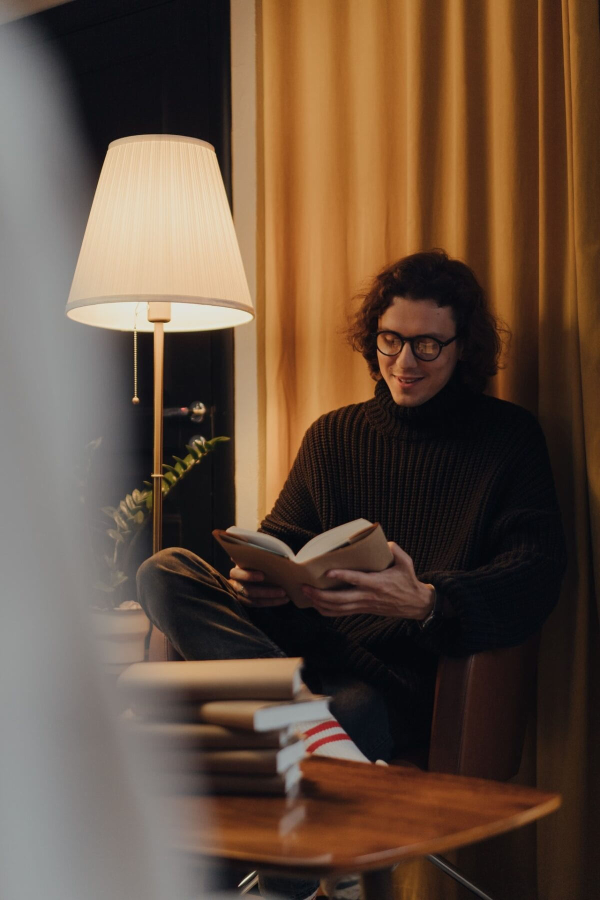 man with a book
